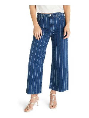 ETICA devon stripe high waist crop wide leg jeans