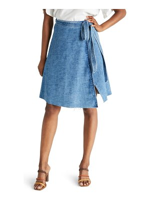 ETICA harper denim wrap skirt