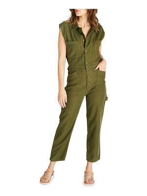 ETICA Heidi Sleeveless Twill Coverall Cropped Jumpsuit