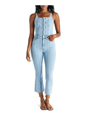 ETICA ivy crop flare denim jumpsuit