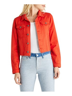 ETICA lennox raw hem crop denim trucker jacket