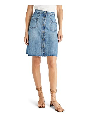 ETICA sophia distressed raw hem denim skirt