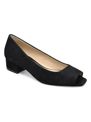 ETIENNE AIGNER evelyn open toe pump