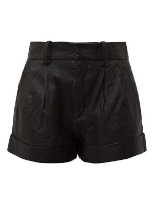 Etoile Isabel Marant abot high rise washed leather shorts