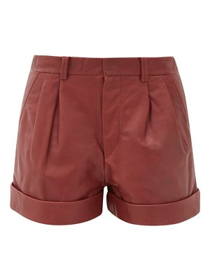 Etoile Isabel Marant abot pleated leather shorts