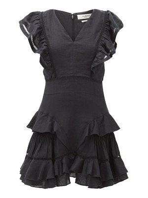 Etoile Isabel Marant audrey ruffled linen mini dress