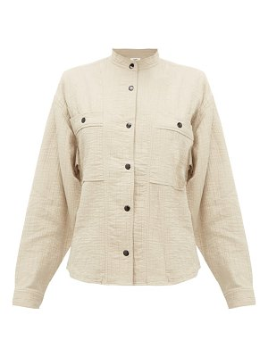 Etoile Isabel Marant barney cotton-blend cheesecloth shirt