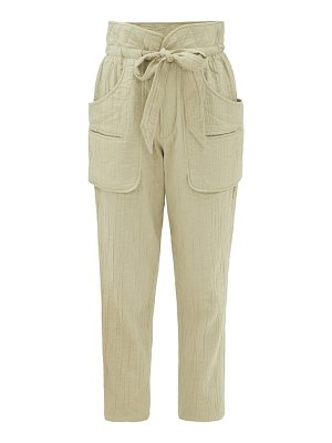 Etoile Isabel Marant bessie paperbag-waist canvas trousers