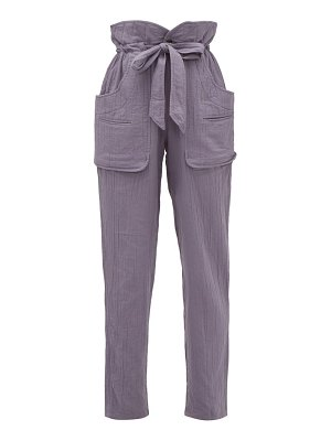 Etoile Isabel Marant bessie paperbag-waist cheesecloth trousers
