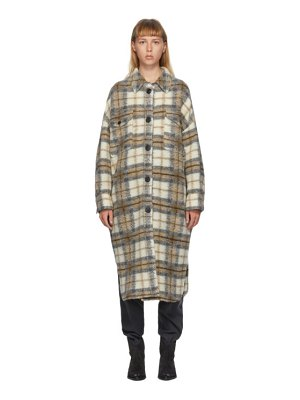 Etoile Isabel Marant brown and off-white gabrion coat
