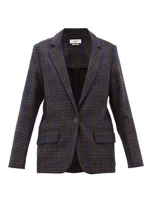 Etoile Isabel Marant charly single breasted checked wool blazer