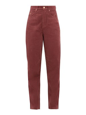 Etoile Isabel Marant corsyv cotton-corduroy straight-leg trousers
