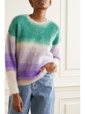 Etoile Isabel Marant drussell striped mohair-blend sweater