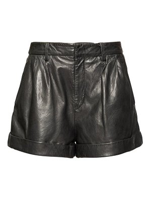 Etoile Isabel Marant fabot pleated leather shorts