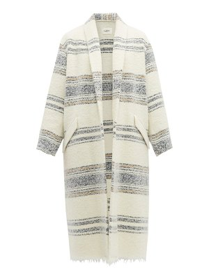 Etoile Isabel Marant faby open front striped wool overcoat