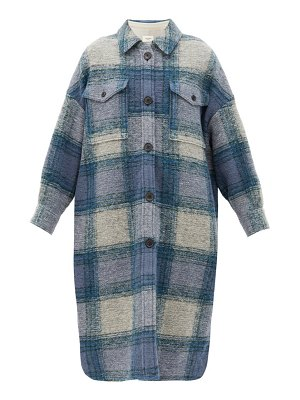 Etoile Isabel Marant gabrion single-breasted checked wool-blend coat
