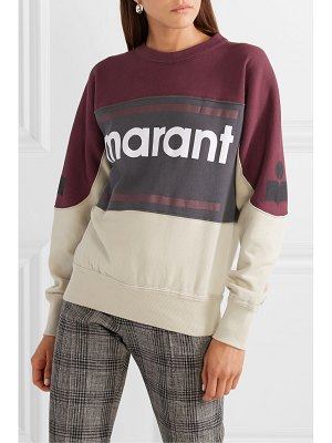 Etoile Isabel Marant gallian flocked cotton-blend fleece sweatshirt