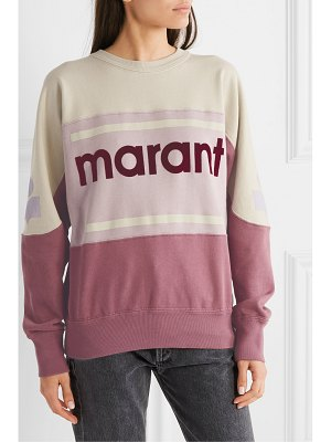 Etoile Isabel Marant gallian flocked cotton-blend jersey sweatshirt