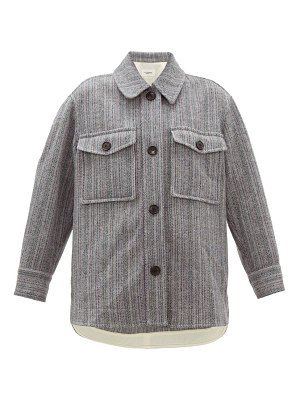 Etoile Isabel Marant garvey striped-wool shirt jacket