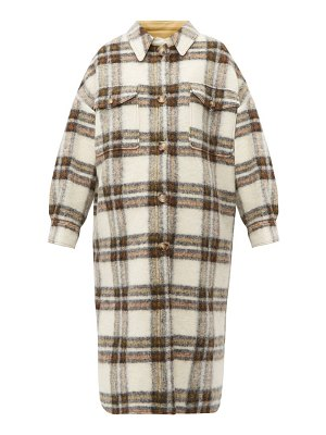 Etoile Isabel Marant gabrion oversized checked wool blend blanket coat