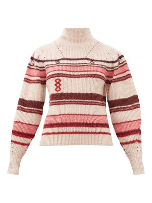 Etoile Isabel Marant georgie striped alpaca-blend sweater