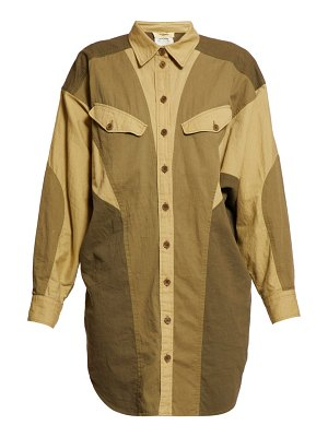 Etoile Isabel Marant goya patchwork cotton shirtdress