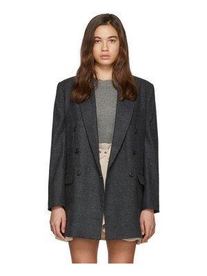 Etoile Isabel Marant grey wool eagan double-breasted blazer