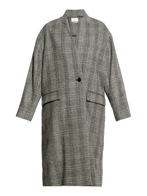 Etoile Isabel Marant henlo checked wool overcoat
