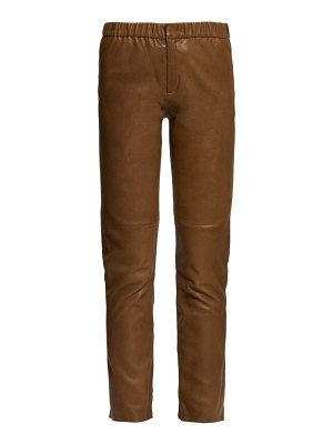 Etoile Isabel Marant iany leather slim fit trousers