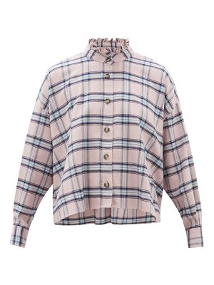 Etoile Isabel Marant ilaria ruffled checked cotton shirt