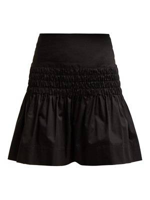 Etoile Isabel Marant oliko smocked cotton poplin skirt
