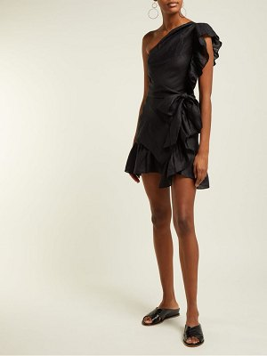 Etoile Isabel Marant teller one shoulder frill mini dress