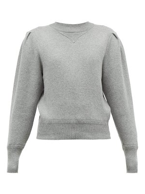 Etoile Isabel Marant kelaya puff sleeve cotton blend sweater