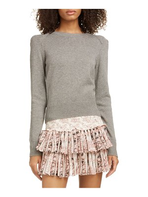 Etoile Isabel Marant kleely puff sleeve cotton & wool sweater