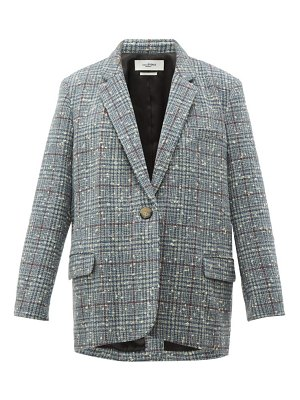 Etoile Isabel Marant korix single breasted checked bouclé blazer
