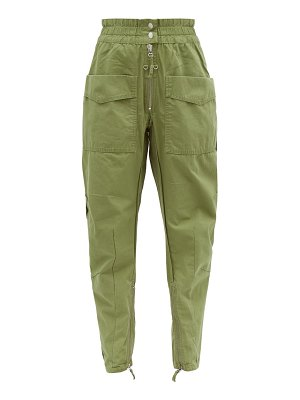 Etoile Isabel Marant lecia tapered cotton canvas utility trousers