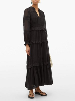 Etoile Isabel Marant likoya pintucked cotton voile dress