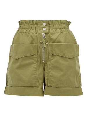 Etoile Isabel Marant lizy shirred cotton canvas shorts