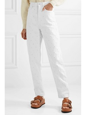 Etoile Isabel Marant lorny distressed high-rise straight-leg jeans