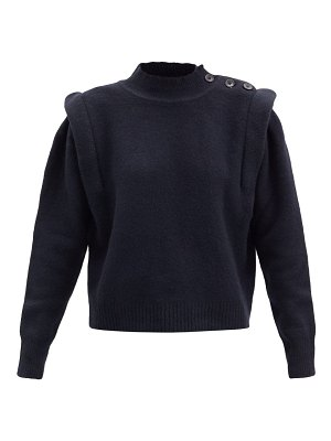 Etoile Isabel Marant meery exaggerated-shoulder wool-blend sweater