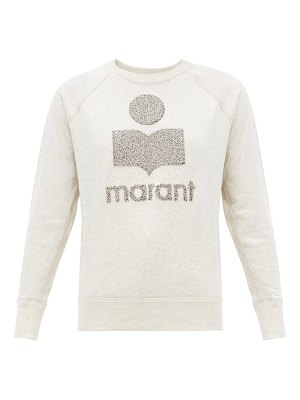 Etoile Isabel Marant milly terry-logo cotton-blend sweatshirt