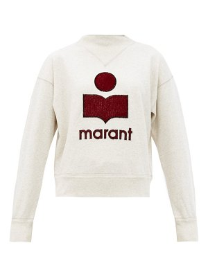 Etoile Isabel Marant moby embroidered-logo cotton-blend sweatshirt