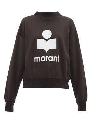 Etoile Isabel Marant moby flocked logo cotton blend sweatshirt