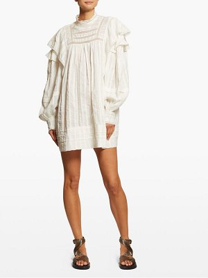 Etoile Isabel Marant patsy crochet insert cotton voile mini dress