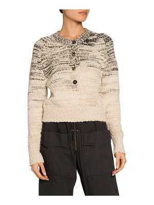 Etoile Isabel Marant Patty Button-Front Crewneck Sweater