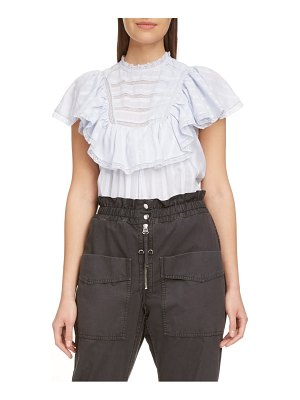Etoile Isabel Marant pleyel lace trim cotton top