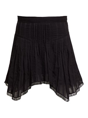 Etoile Isabel Marant prandali handkerchief-hem cotton-voile mini skirt
