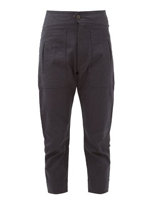 Etoile Isabel Marant raluni high-rise cotton-blend trousers
