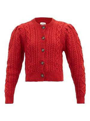 Etoile Isabel Marant rianne cropped cable-knit wool cardigan