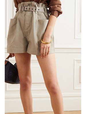 Etoile Isabel Marant rike belted cotton and linen-blend shorts